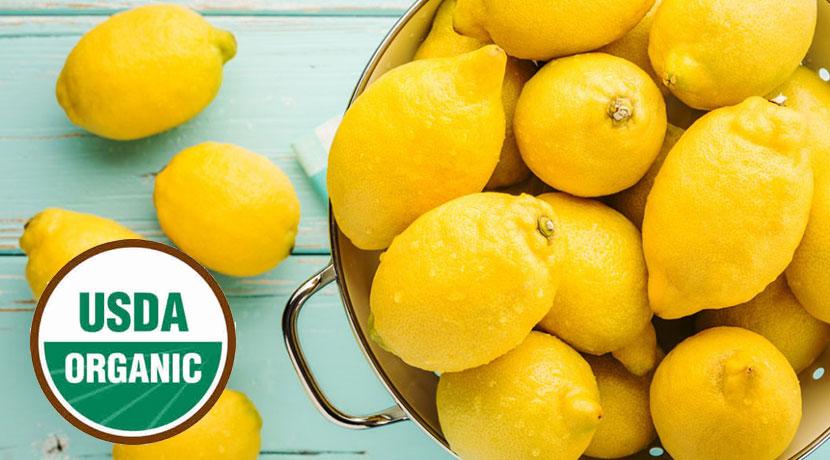 USDAのオーガニック認証を受けたレモンを使用