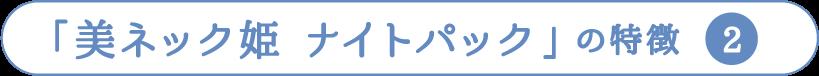 「美ネック姫 ナイトパック」の特徴  2