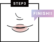 HOW TO MAKE UP イラスト STEP3