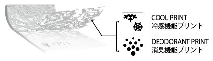 COOL PRINT 冷感機能プリント + DEODORANT PRINT 消臭機能プリント