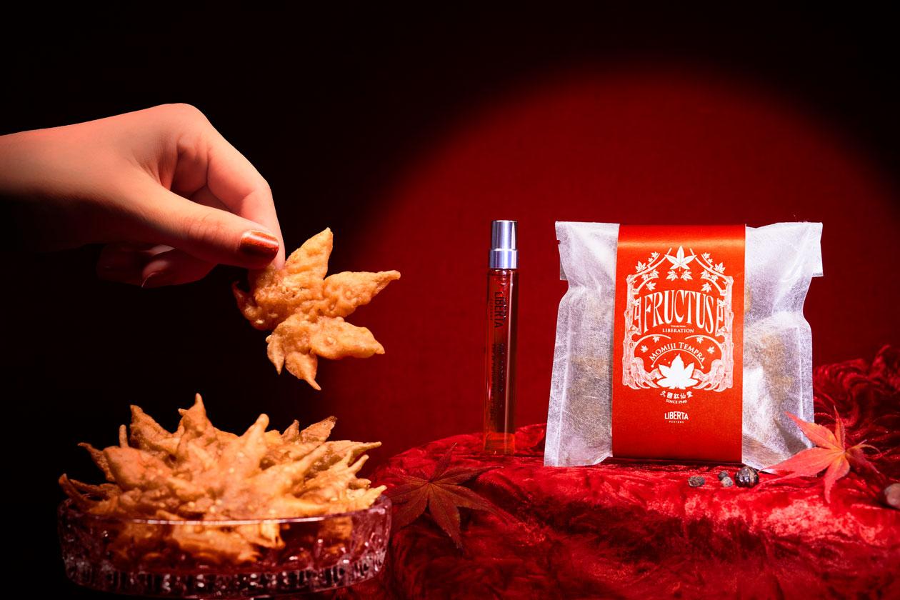 秋の香水フラクタス-もみじ天ぷらセット