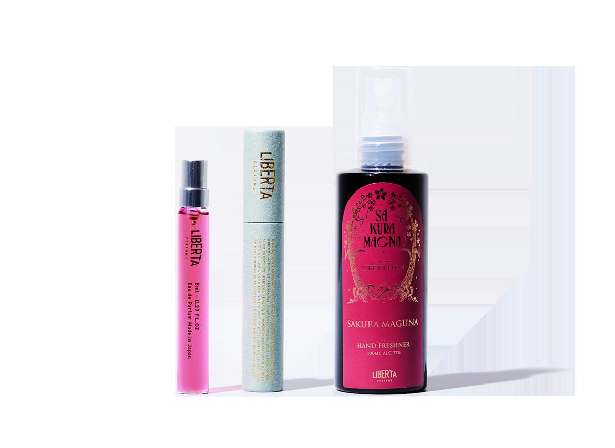 満開の桜香水サクラマグナ_ポータブルケアセット