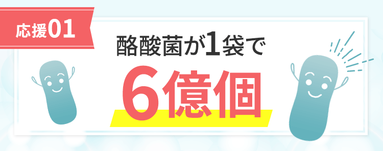 [応援01]酪酸菌が1袋で6億個