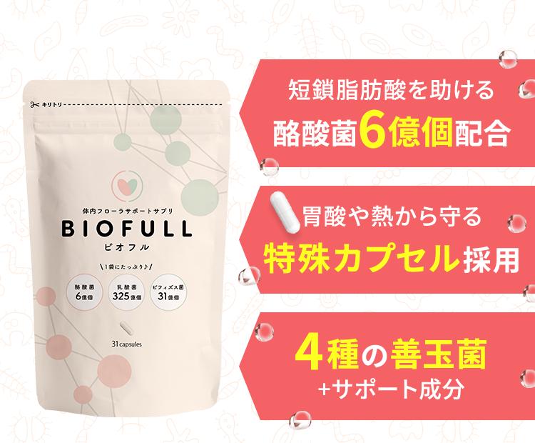 短鎖脂肪酸を助ける酪酸菌6億個配合