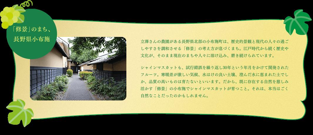 「修景」のまち、長野県小布施