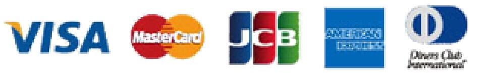 ビザ、マスターカード、JCB、アメリカン・エキスプレス・ジャパン株式会社、ダイナースクラブ
