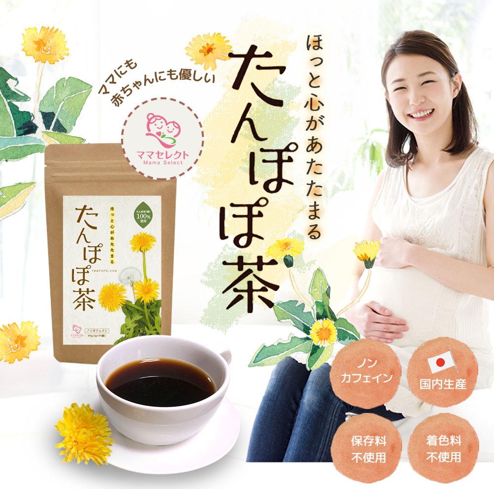 ママセレクト たんぽぽ茶 ノンカフェイン 国内生産 保存料不使用 着色料不使用