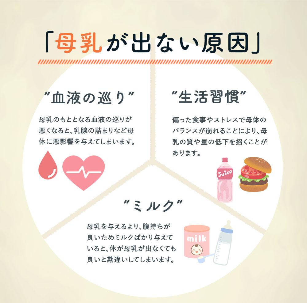 母乳が出ない原因 血液の巡り 生活習慣 ミルク