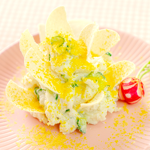 幼児食 モンブランサラダ