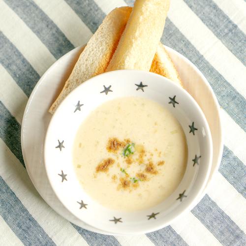 離乳食 カミカミ期 おさかなパウダーでお手軽つぶコーンスープ
