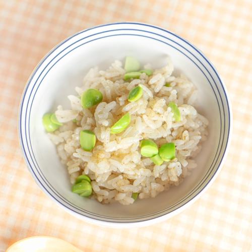 幼児食 枝豆入り炊き込みご飯