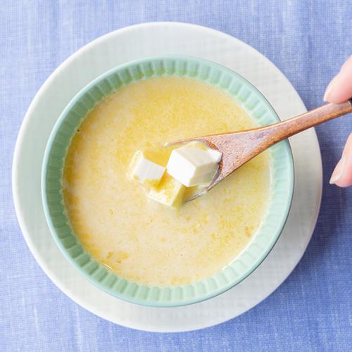 離乳食 ごっくん期 パンプキンの豆乳スープ