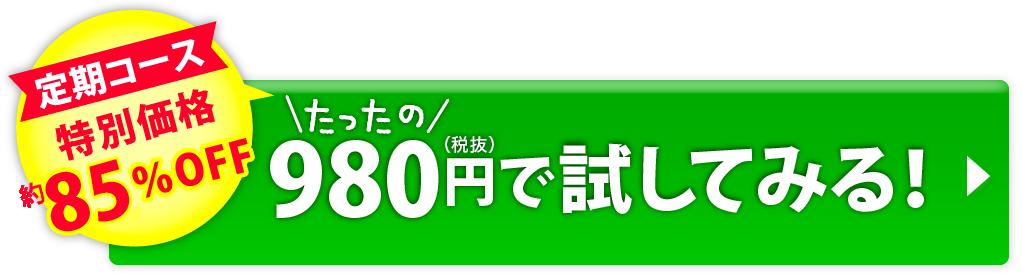 定期コース 特別価格80%off たったの980円で試してみる!