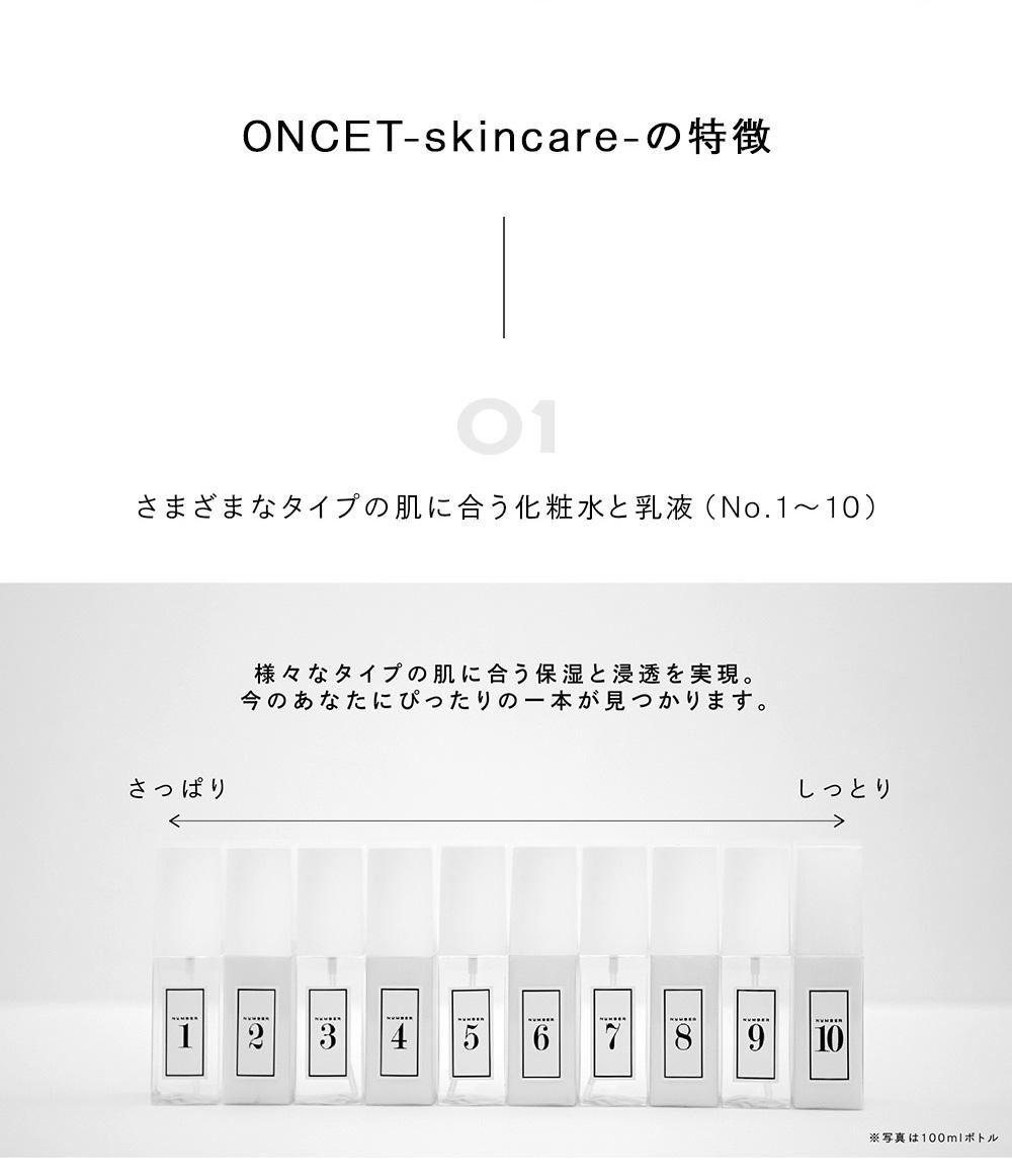 ONCET-skincare-の特徴