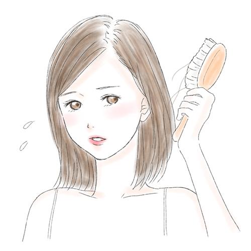 髪の抜け毛/薄毛が気になる女性