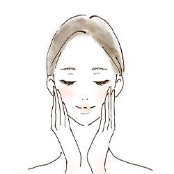 美容液のつけ方1