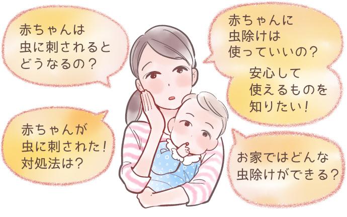 赤ちゃんの虫除け対策に関するママの疑問や不安