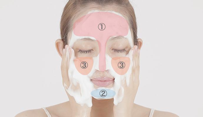洗顔する順番イメージ