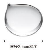 直径2.5cm程度のジェルの写真