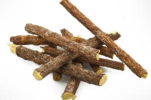 生薬の甘草の根茎または根の画像