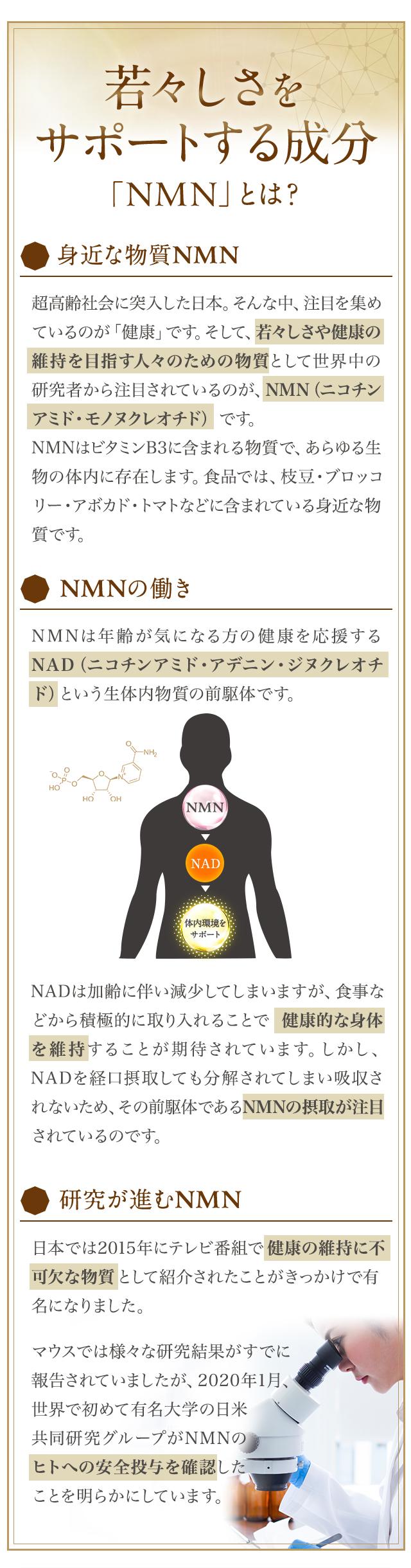 若々しさをサポートする成分「NMN」とは?