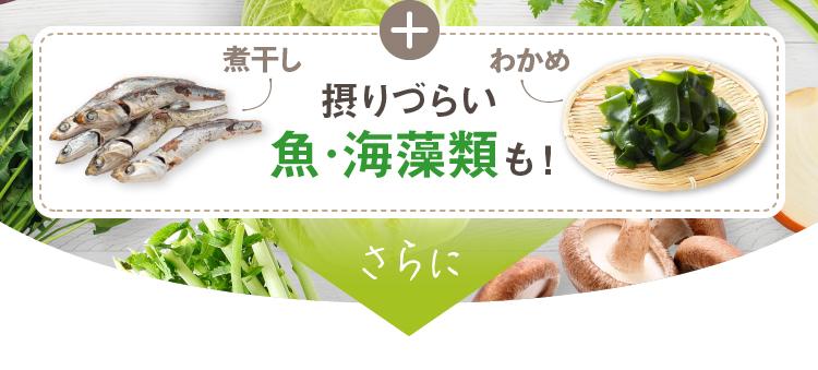 煮干し+わかめ 摂りづらい魚・海藻類も!さらに