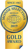 MONDE SELECTION 2019 GOLD AWARD