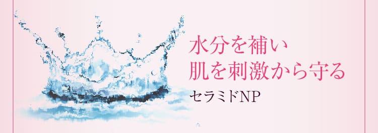 水分を補い肌を刺激から守る/セラミドNP