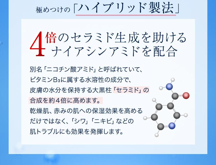 4倍のセラミド生成を助けるナイアシンアミド