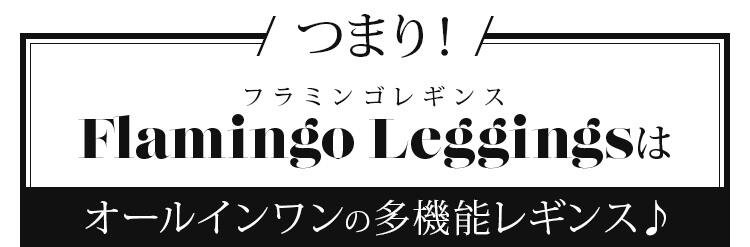 つまり! フラミンゴレギンス Flamingo Leggings はオールインワンの多機能レギンス♪