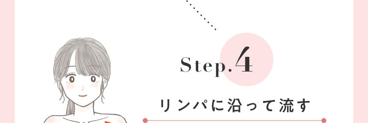 STEP.4 リンパに沿って流す