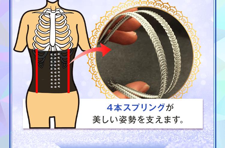 プリンセススリムなら4本スプリングが美しい姿勢を支えます