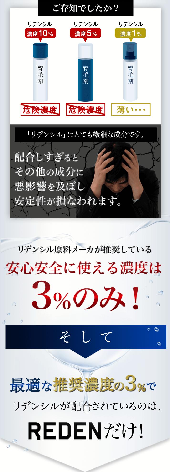 リデンシル3%配合