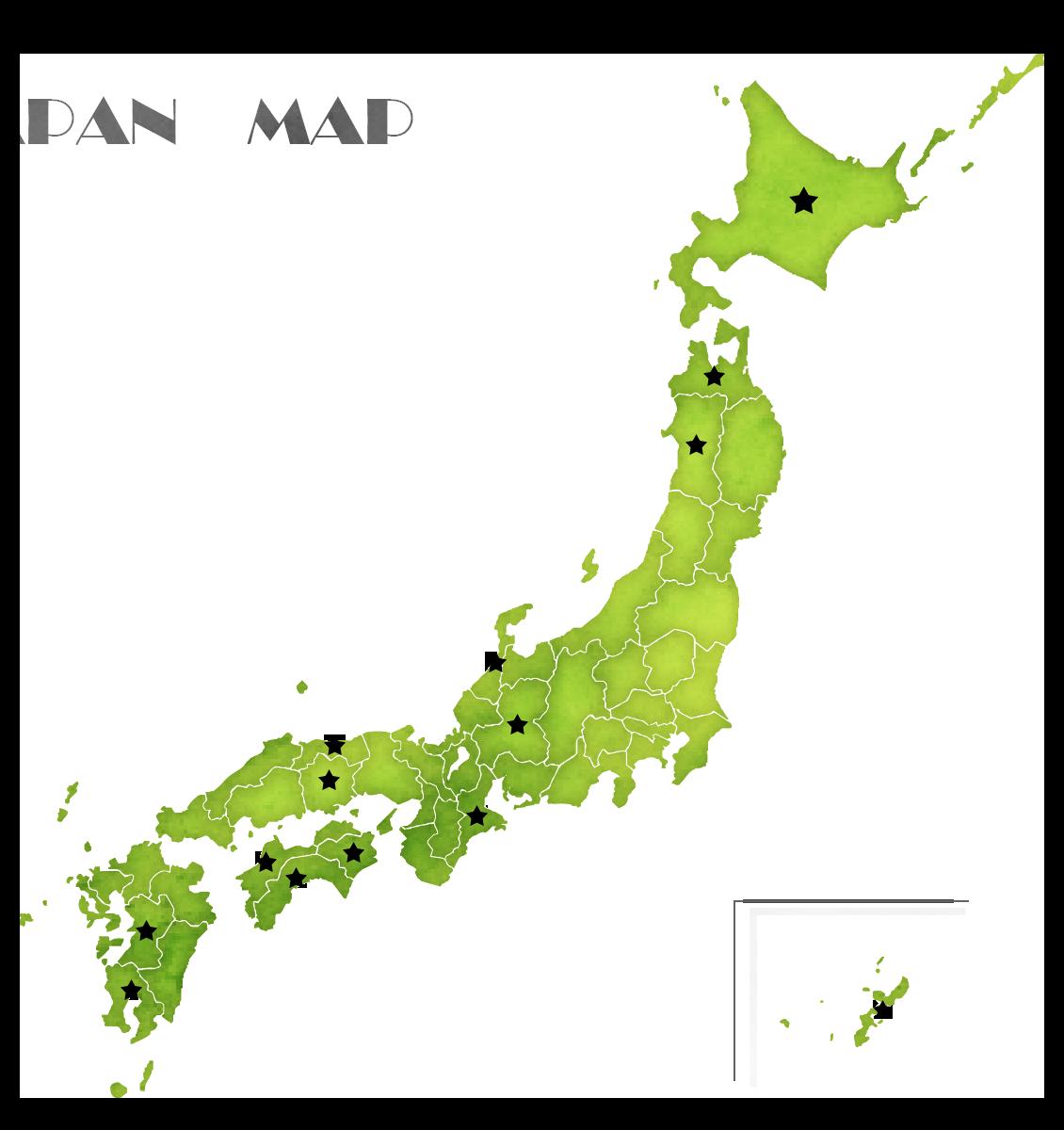 全国の産地マップ