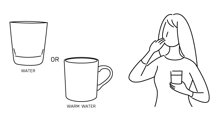 KOUSOの飲み方イラスト