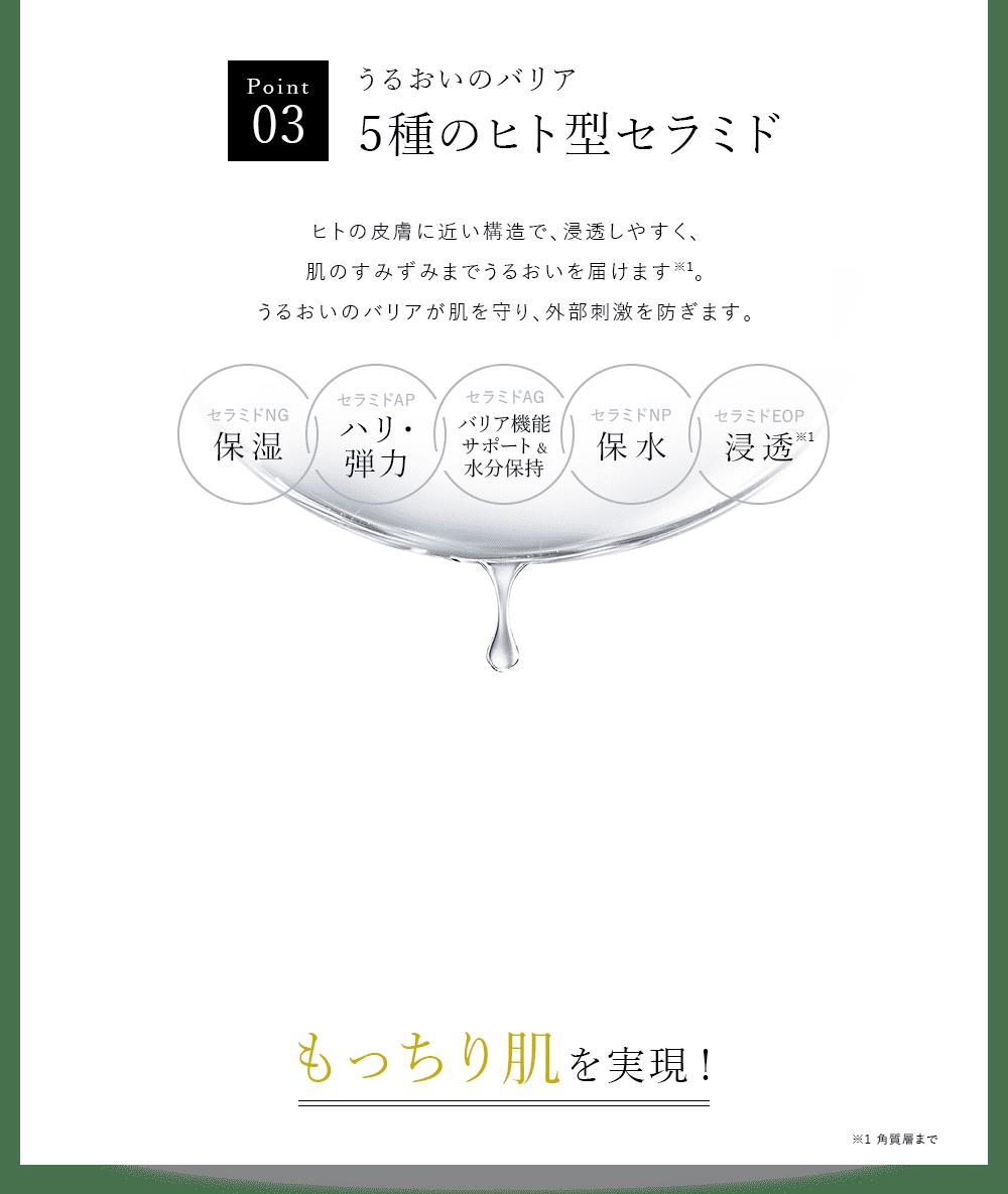 Point03 うるおいのバリア 5種のヒト型セラミド