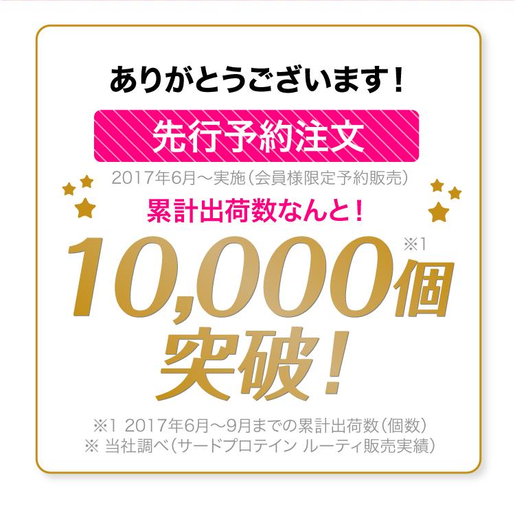 10,000個突破!