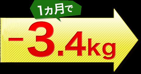 1ヵ月で-3.4kg