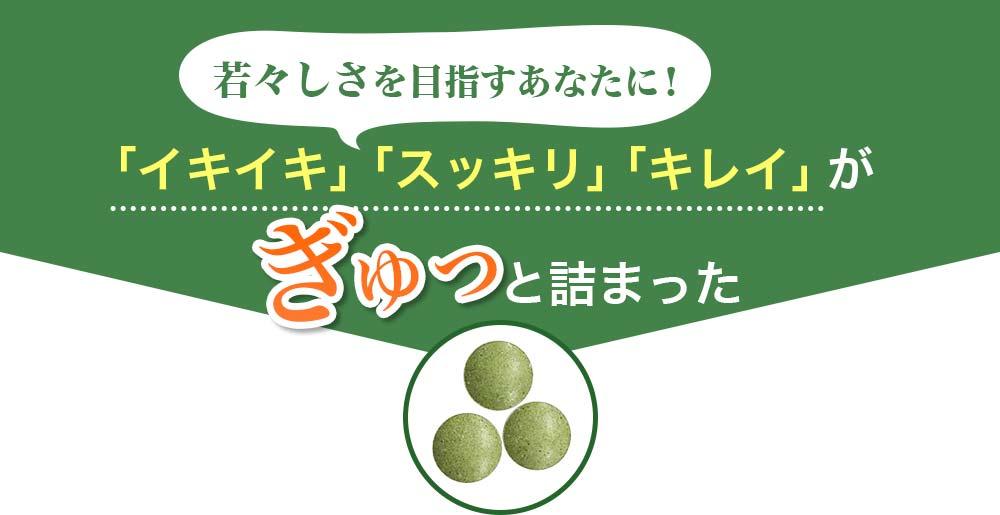 若々しさを目指すあなたに!「イキイキ」「スッキリ」「キレイ」がぎゅっと詰まったすっきり野菜の青汁酵素