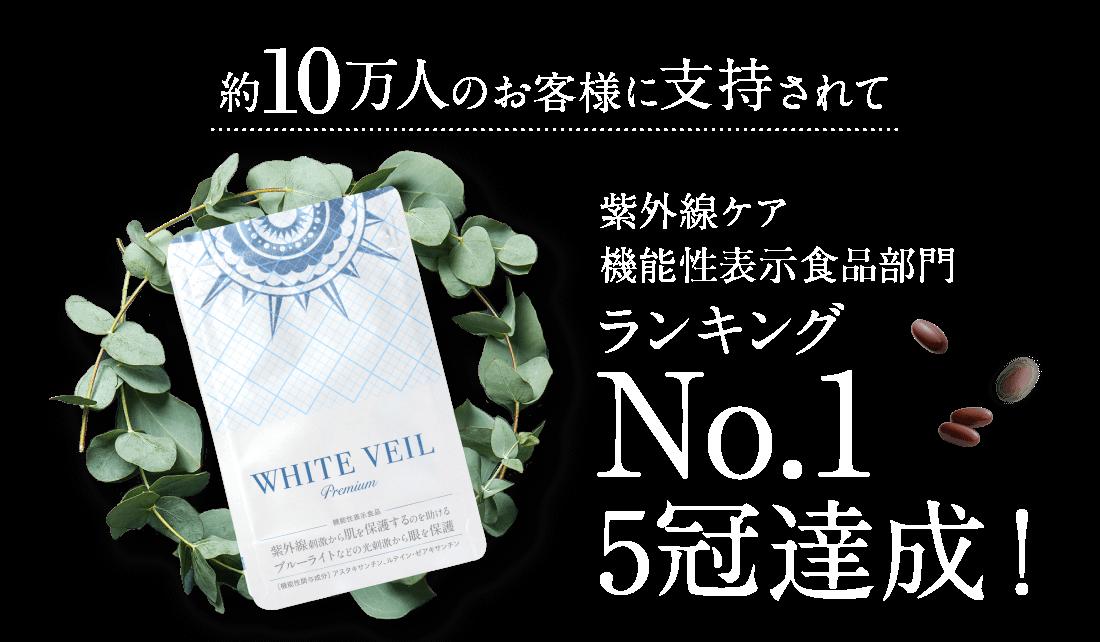 紫外線ケア機能性表示食品部門ランキングNo.15冠達成!