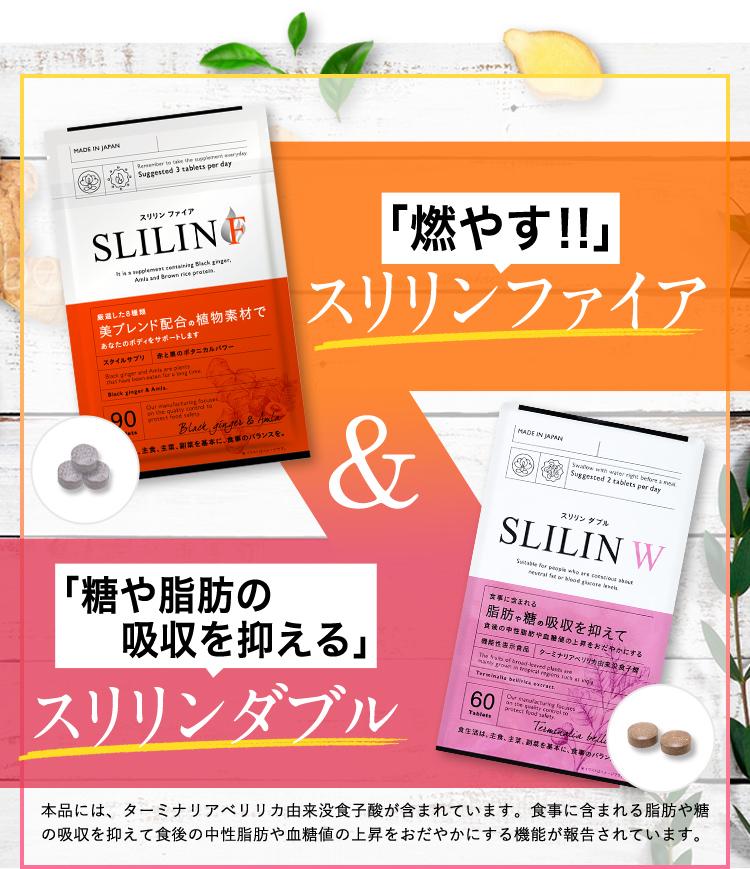 燃やすスリリンダブル&糖や脂肪の吸収を抑えるスリリンファイア