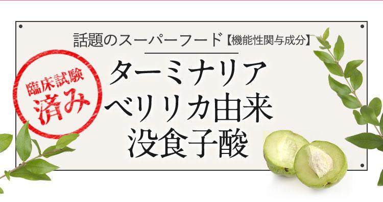 話題のスーパーフード【機能性関与成分】ターミナリアベリリカ由来没食子酸