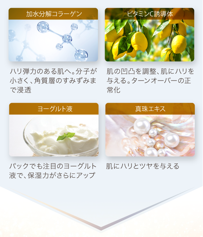 加水分解コラーゲン ビタミンC ビタミンA 真珠エキス