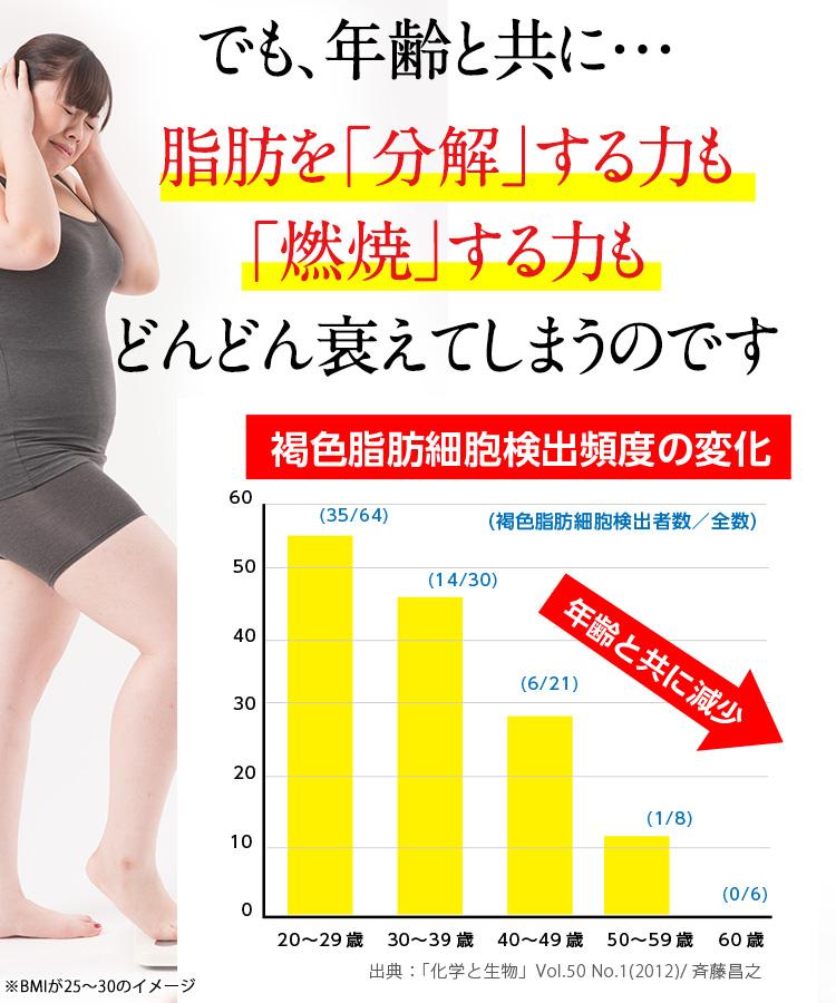 年齢と共に脂肪を分解する力も燃焼する力も衰えてしまう