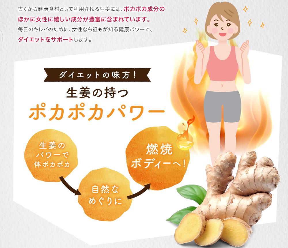 ダイエットの味方!生姜の持つポカポカパワー