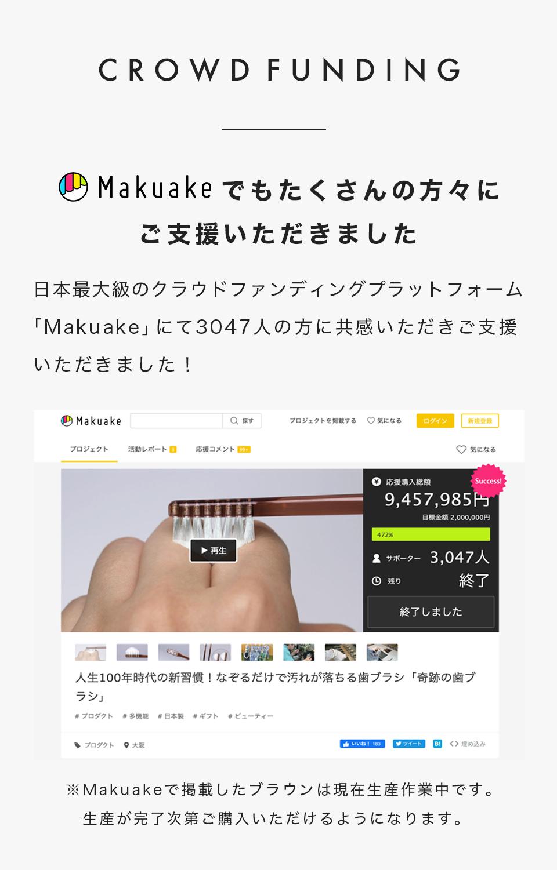 メディア掲載 Makuakeでもたくさんの方々にご支援いただきました