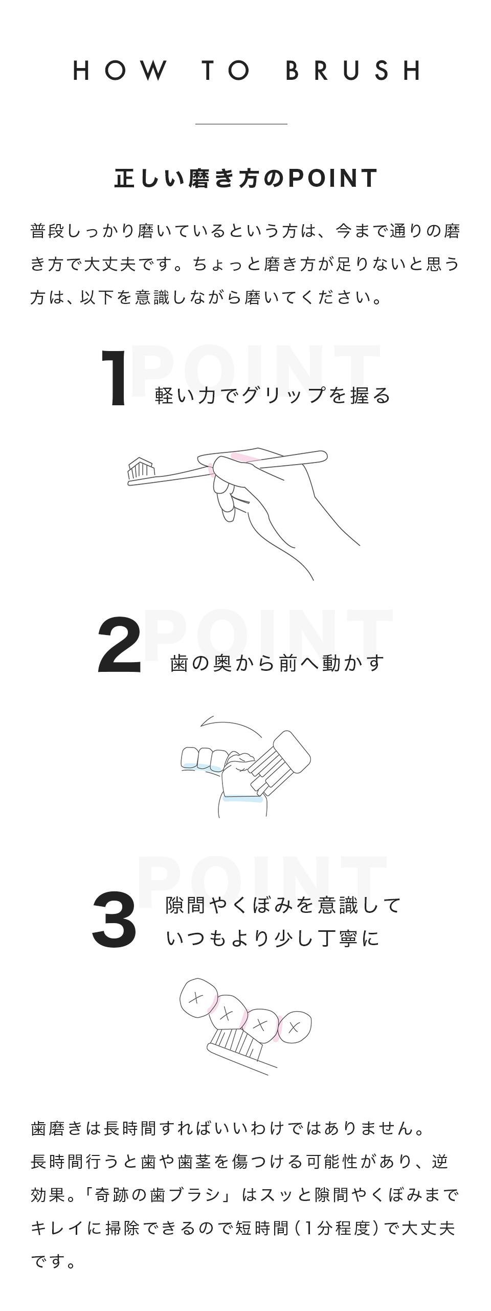 HOW TO 正しい磨き方のポイント