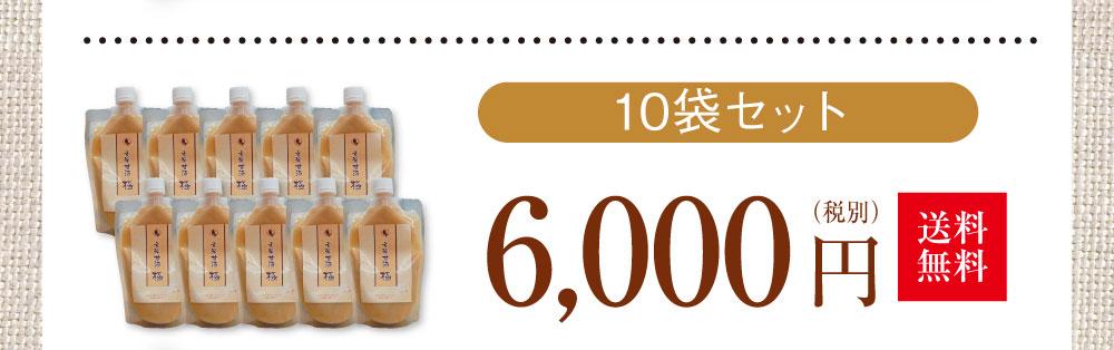 10袋セット 6000円(送料無料)