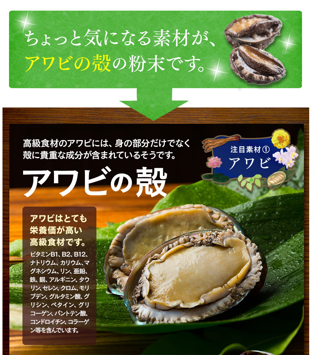 注目されているのはアワビの殻の粉末です。