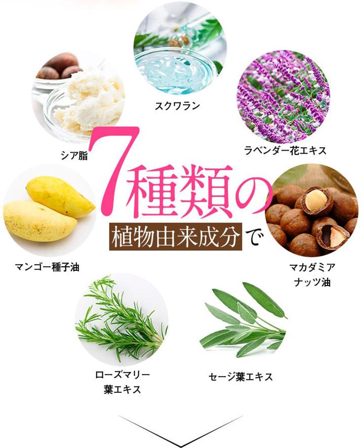 7種類の植物由来成分で